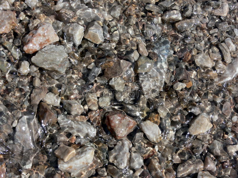 Riverbed background stock photo