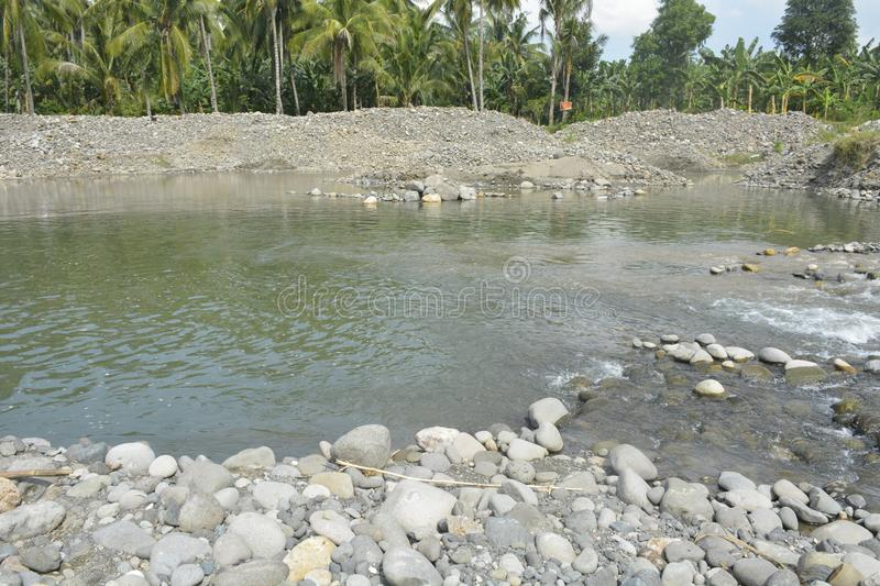 Riverbed of Mal river, Matanao, Davao del Sur, Philippines. This photo shows the riverbed of Mal river, Matanao, Davao del Sur, Philippines royalty free stock image