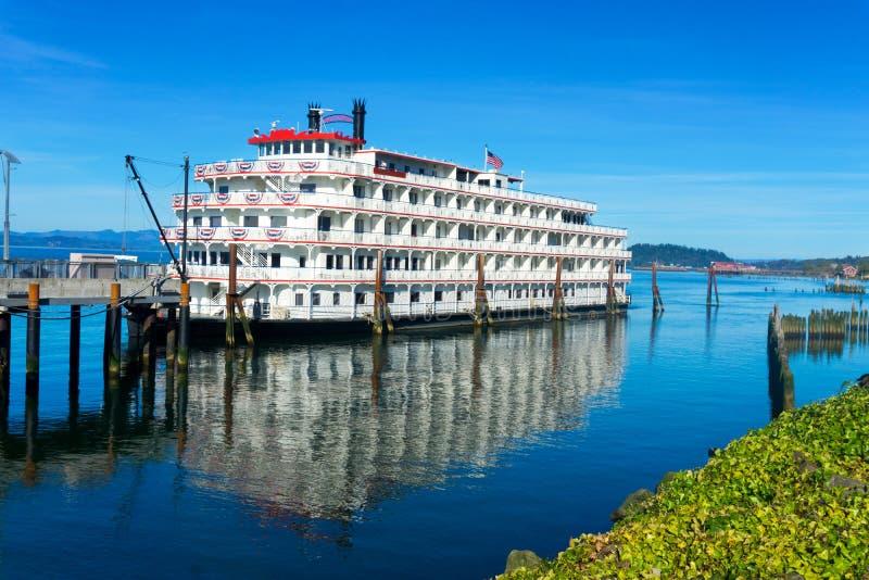 Riverboat in Astoria, Oregon stock photo
