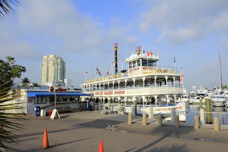Riverboat da rainha da selva imagem de stock
