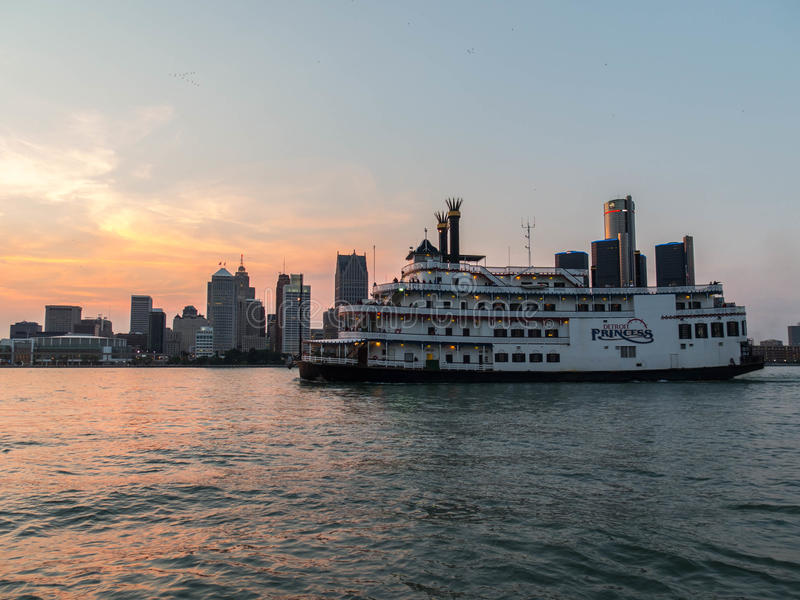 Riverboat Detroit Princess stock image