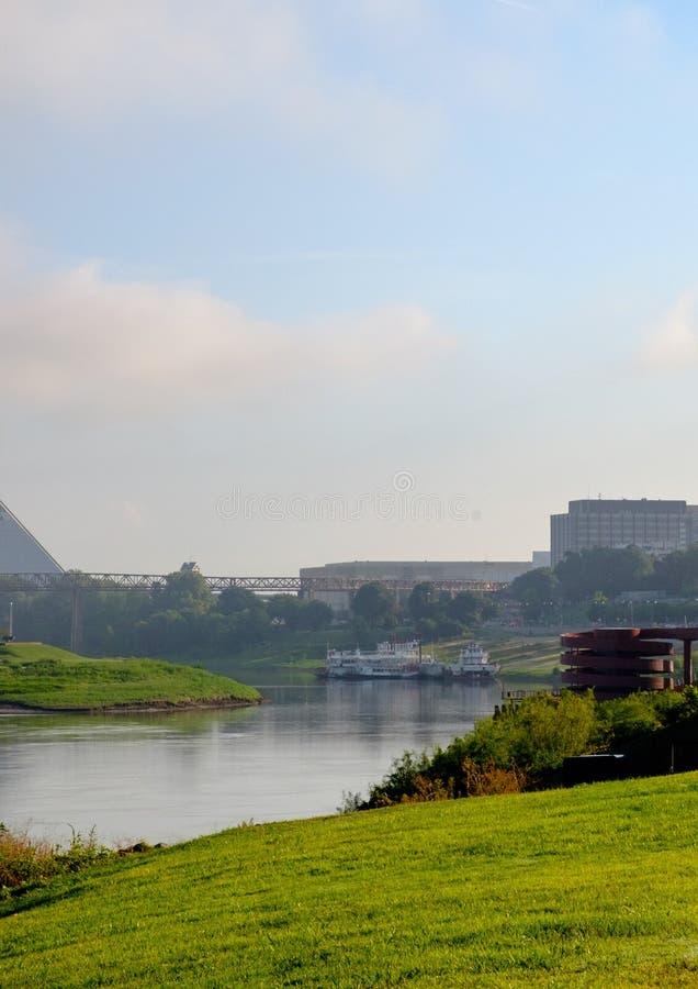 Riverboat no rio Mississípi em Memphis, Tennessee foto de stock
