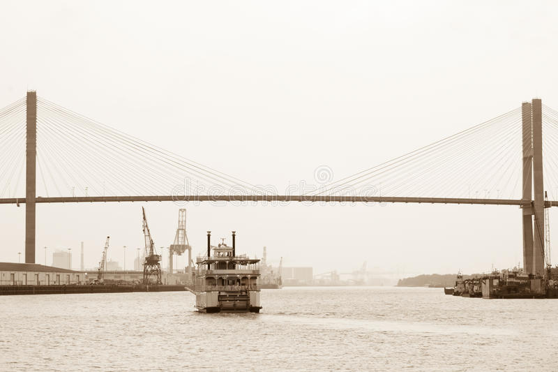 riverboat sawanna obrazy royalty free