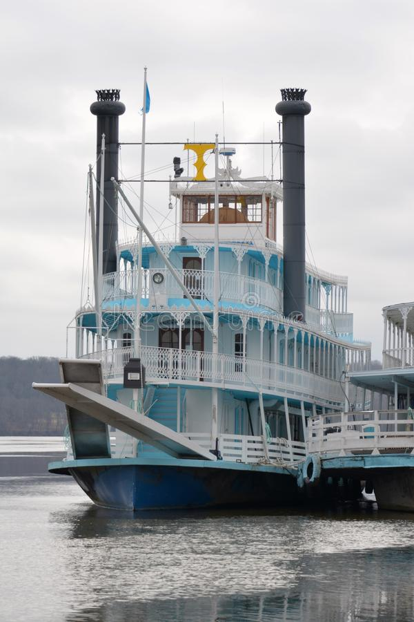 Riverboat zmierzch obraz royalty free
