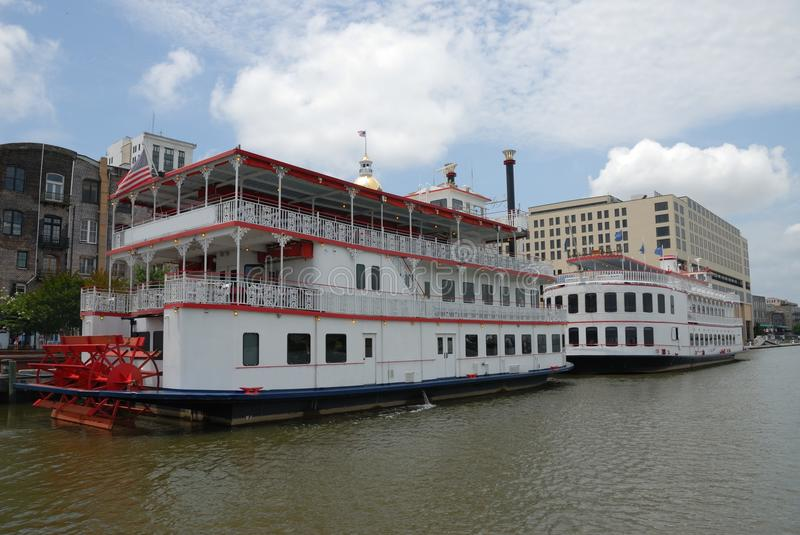 Riverboats on the river royalty free stock image