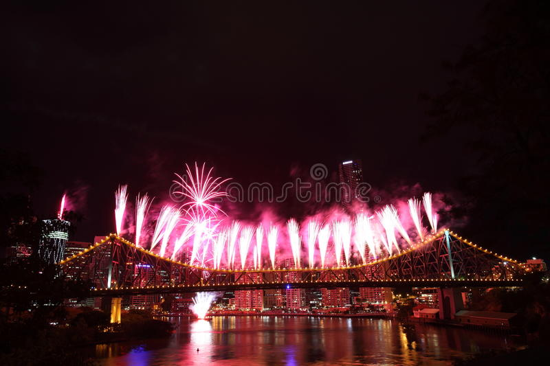 Riverfire Festival in Brisbane royalty free stock images