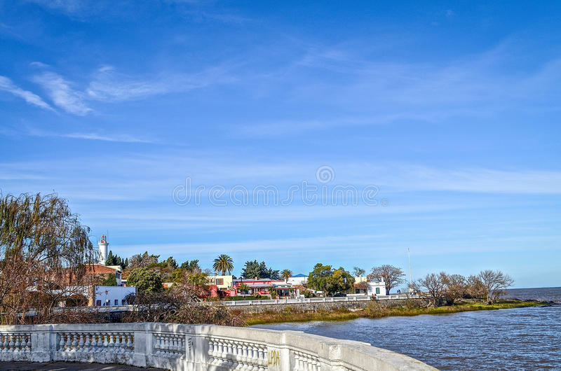 Riverfront in Colonia, Uruguay royalty-vrije stock fotografie