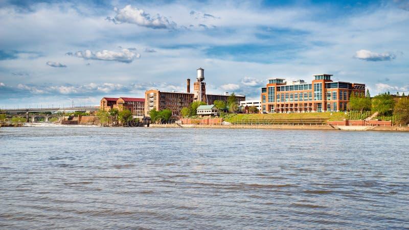 Riverfront en van de binnenstad in Columbus, GA royalty-vrije stock foto's