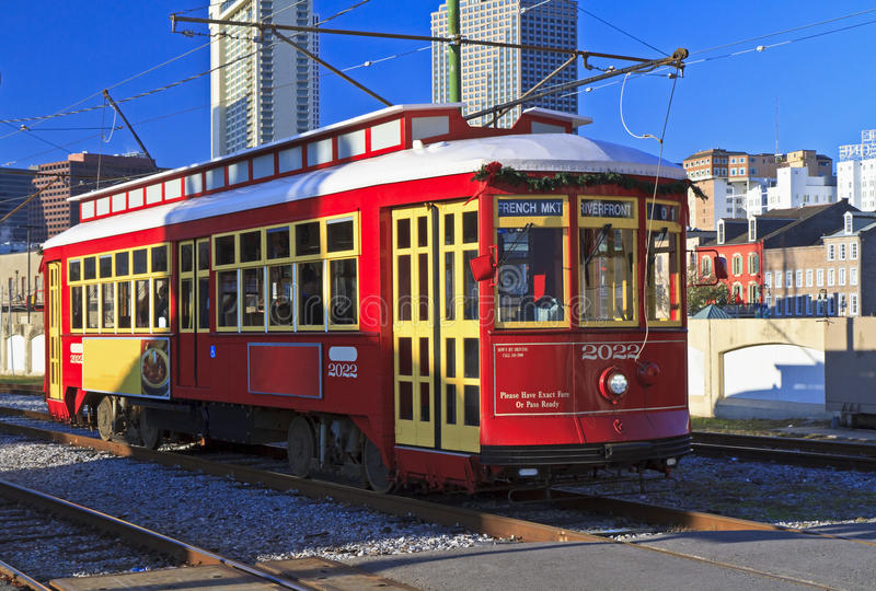 Download Riverfront Streetcar stock image. Image of night, carre - 22643199