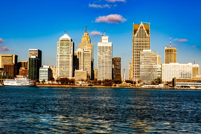 Riverfront, Windsor, Ontario, Canada. royalty free stock images