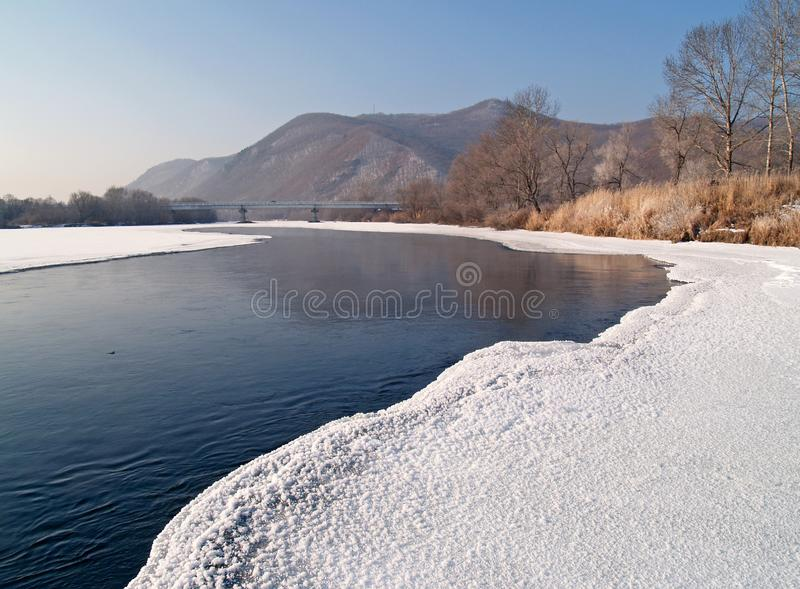 Download Riverheads Of Ussuri In The Winter Stock Image - Image of branch, winter: 6569647