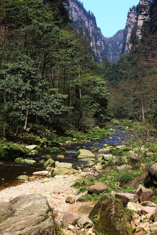 Rivers In Zhangjiajie Mountains Royalty Free Stock Photos
