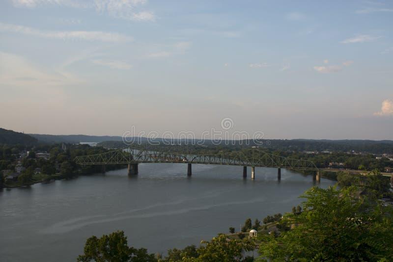 Riverscape στον ποταμό του Οχάιου στοκ εικόνες