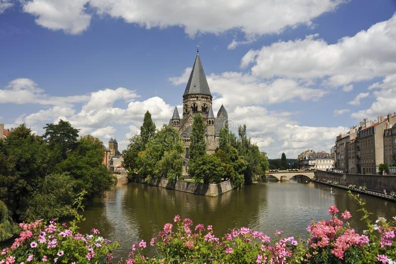 riverscape de Metz photographie stock