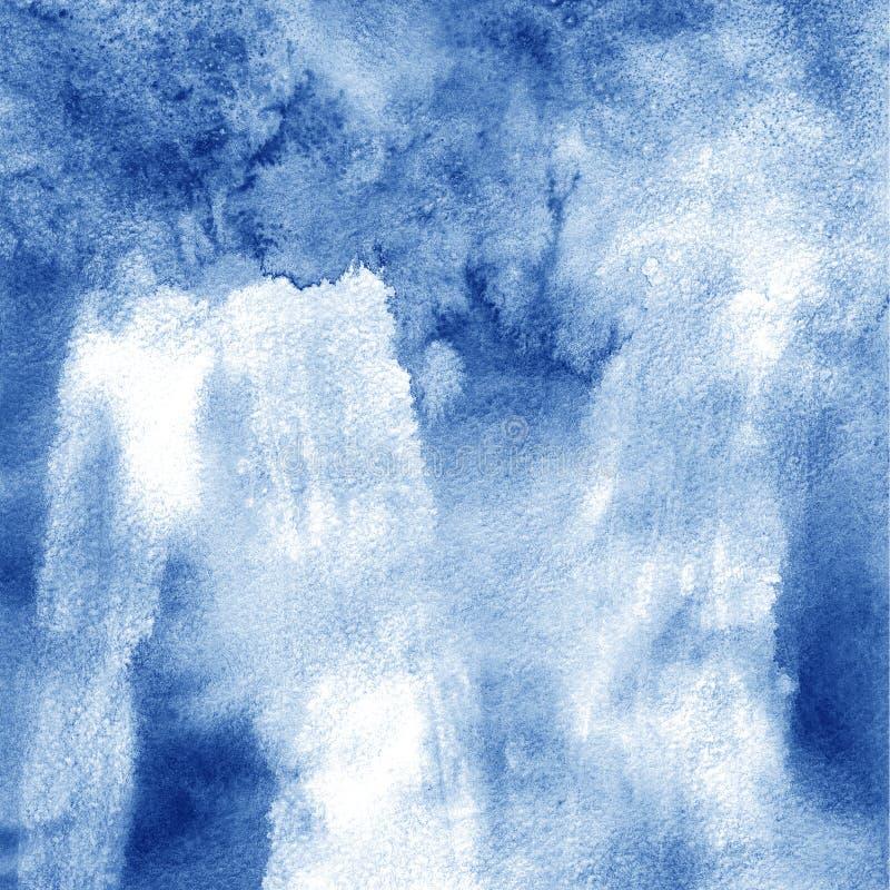 riverside abstrakcjonistyczna tła ręka malująca akwarela niebieska konsystencja ilustracji