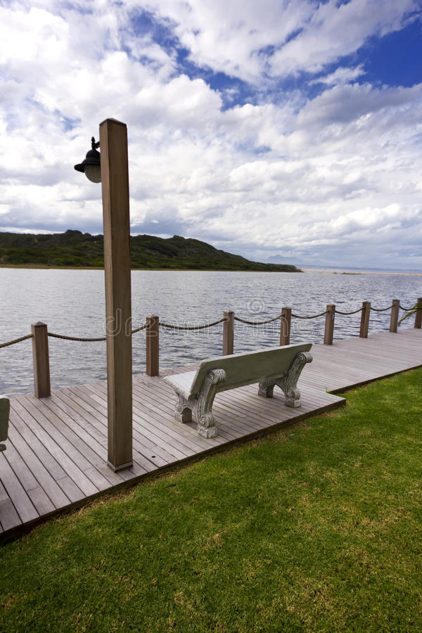 Download Riverside Bench And Light Royalty Free Stock Photos - Image: 30609598