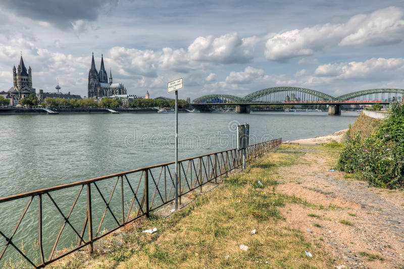 Download Riverside decay in Cologne stock image. Image of rhine - 33216297
