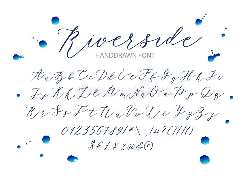 Riverside Stock Vector Illustration Of Calligraphy