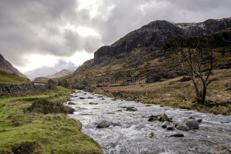 Riverside Llanberis North Wales. Snowdonia national Park stock photos