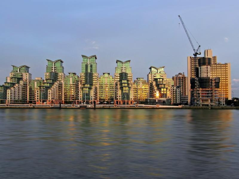 Download Riverside in London stock photo. Image of london, private - 25084718