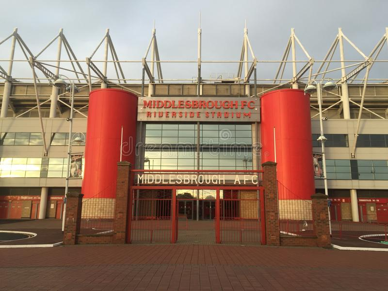 Riverside Stadium de Middlesbrough fotografía de archivo