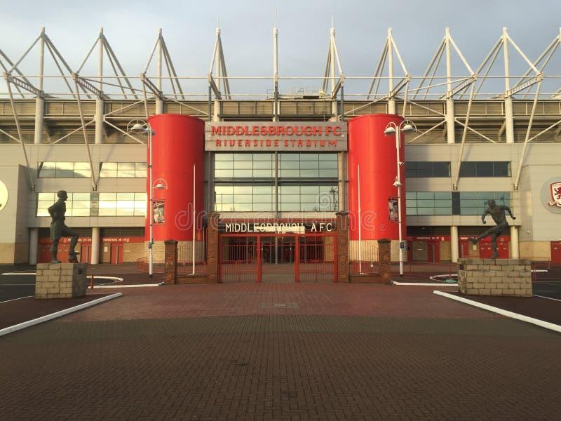 Riverside Stadium de Middlesbrough imágenes de archivo libres de regalías