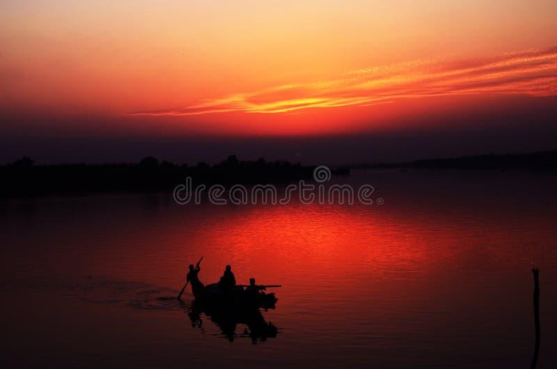 Riverside sunset stock photos