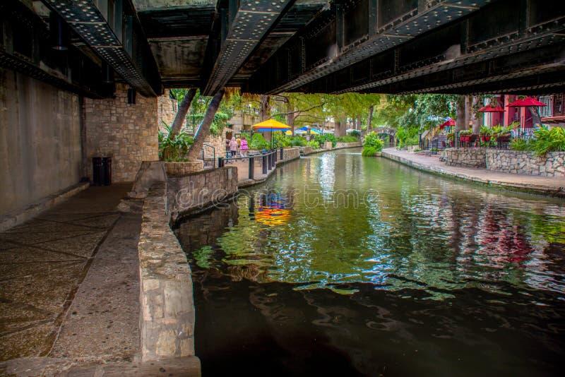 Riverwalk桥梁圣安东尼奥 免版税库存图片