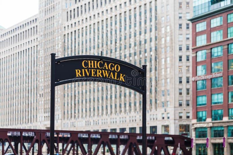 riverwalk chicago стоковая фотография rf