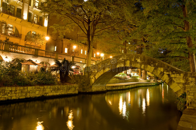 Riverwalk de San Antonio images libres de droits