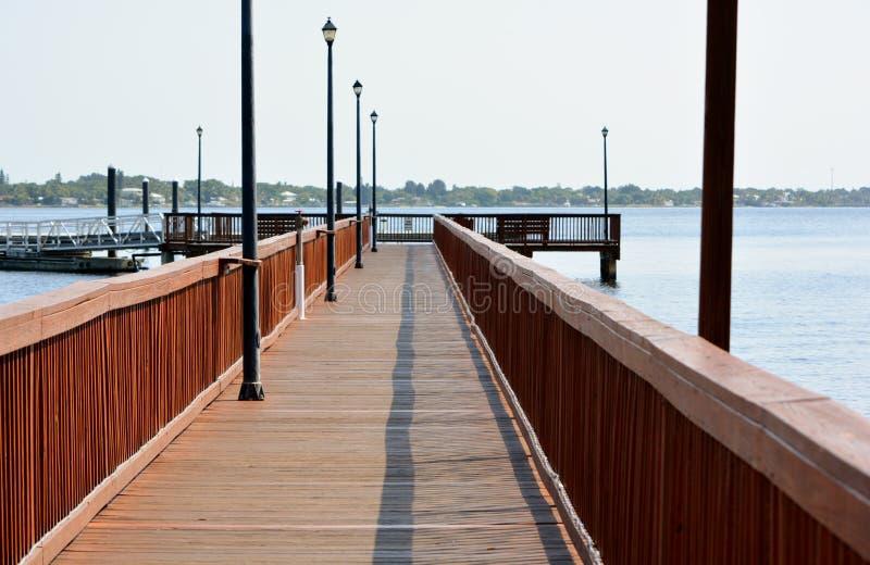 Riverwalk & dok obrazy royalty free