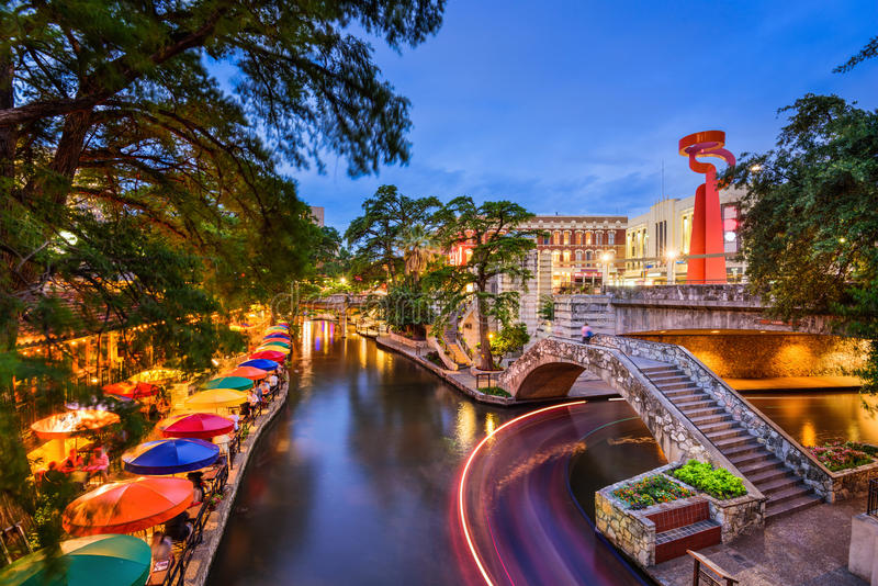 Riverwalk em San Antonio fotos de stock