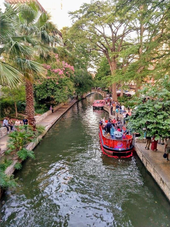 Riverwalk en San Antonio imagen de archivo