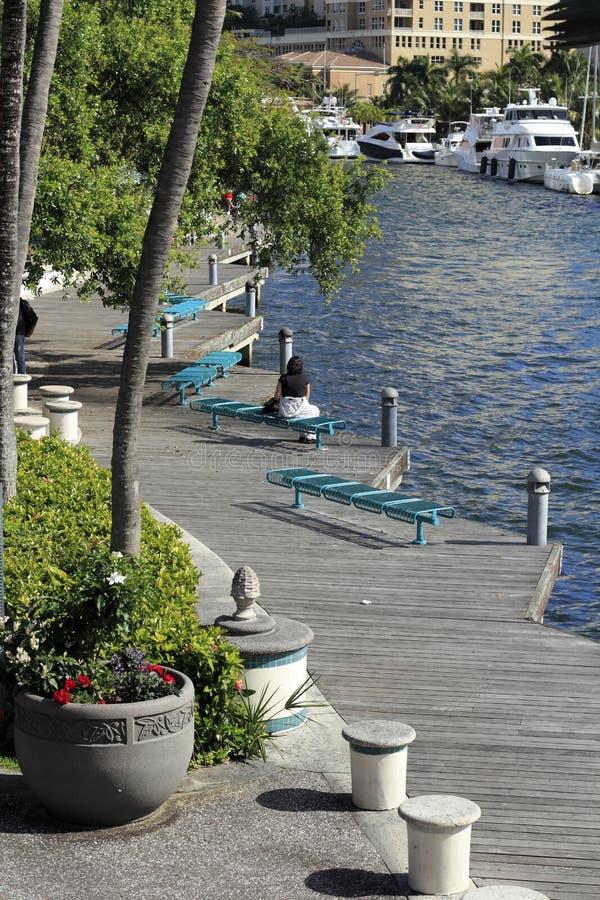 Riverwalk-Fort Lauderdale stockbilder