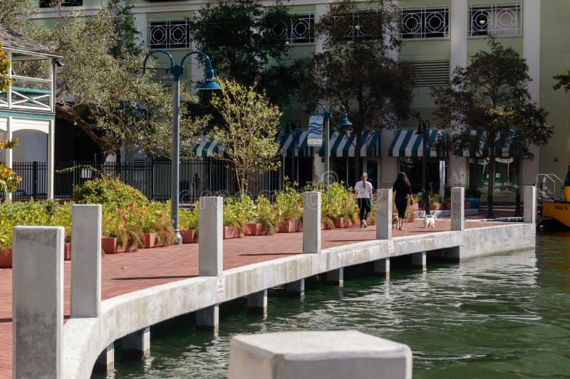 Riverwalk Fort Lauderdale Florida royaltyfri foto