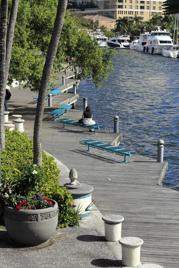 Riverwalk Fort Lauderdale stock images