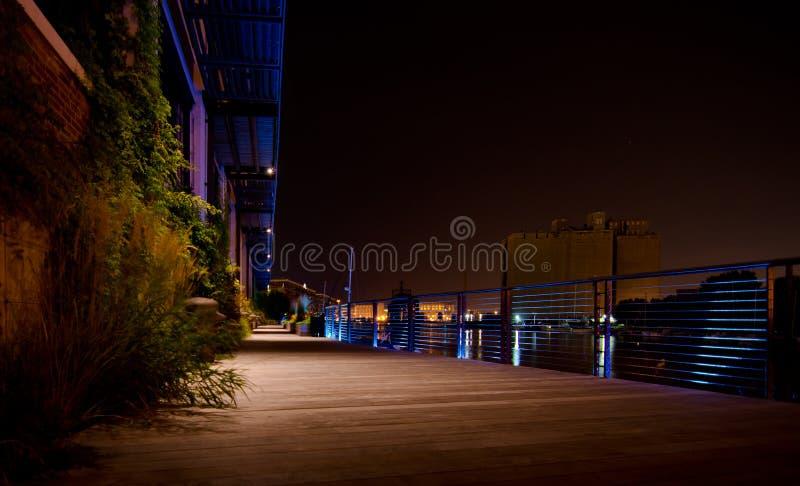 Download Riverwalk at Night stock image. Image of wisconsin, lights - 33491631