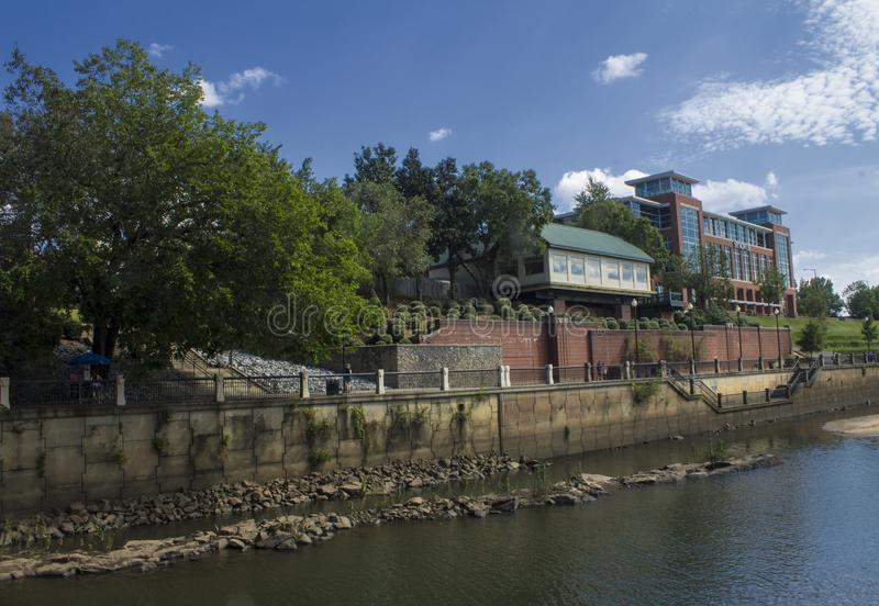 Riverwalk restauracja i klub zdjęcia stock