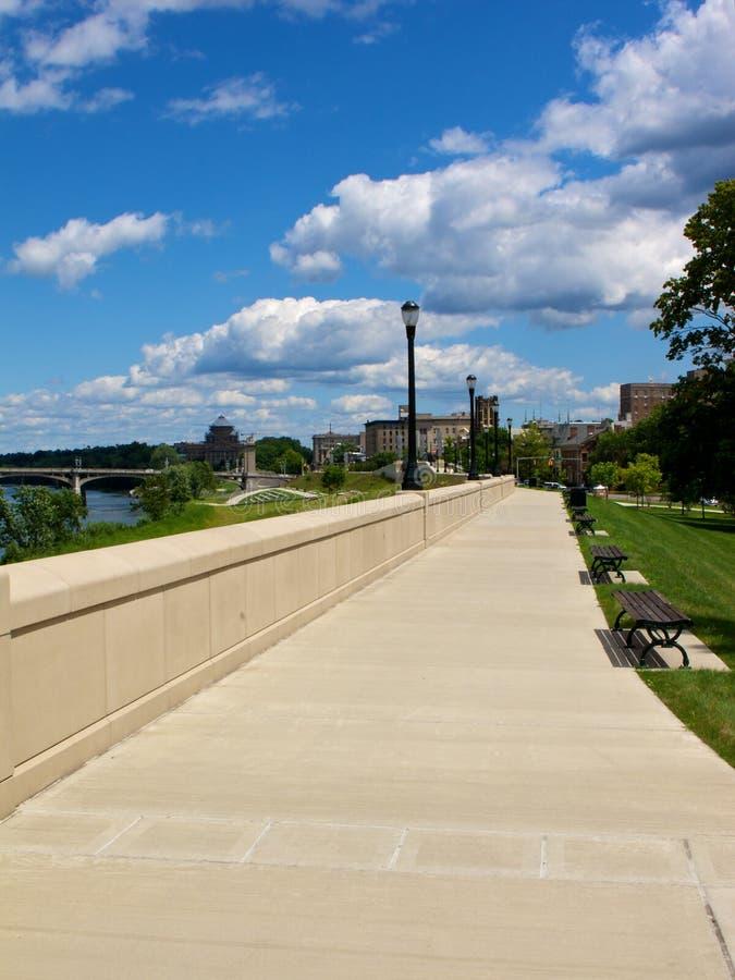 Riverwalk rural image stock