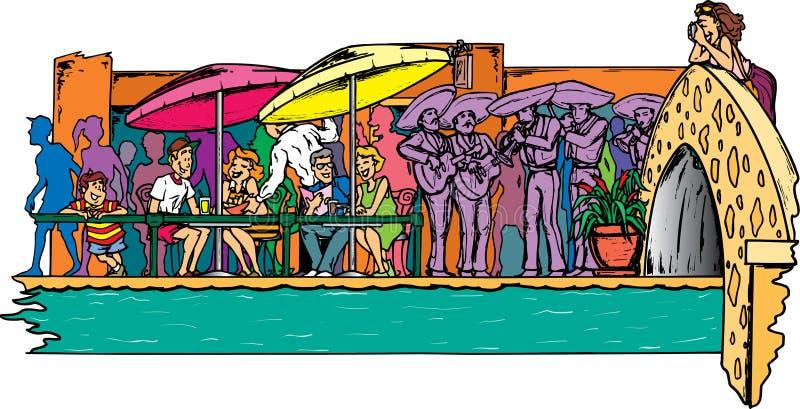 Riverwalk in San Antonio lizenzfreie abbildung