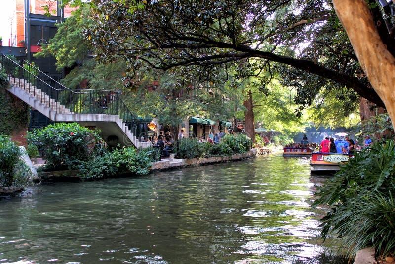Riverwalk, San Antonio -, Teksas obrazy stock