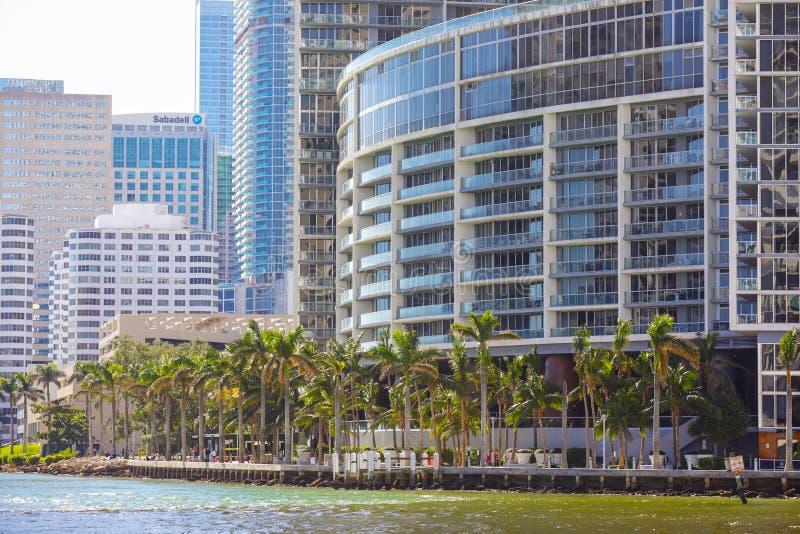 Riverwalk w centrum Brickell Miami FL zdjęcie stock