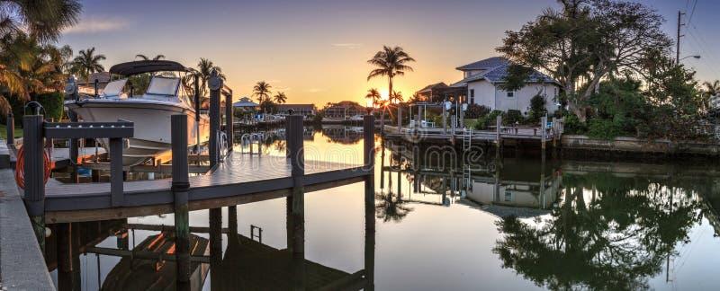 Riverway to prowadzi ocean na Marco wyspie zdjęcia royalty free