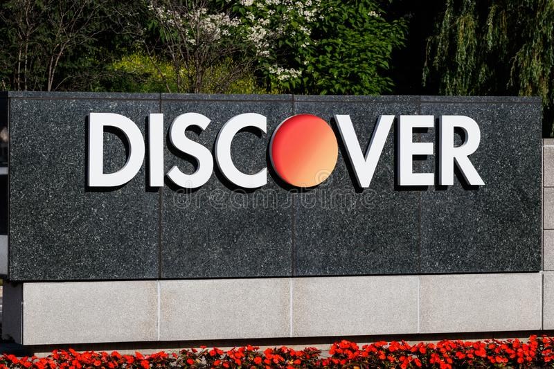 Discover Financial Services headquarters. Discover offers credit cards, home and student loans I royalty free stock photo