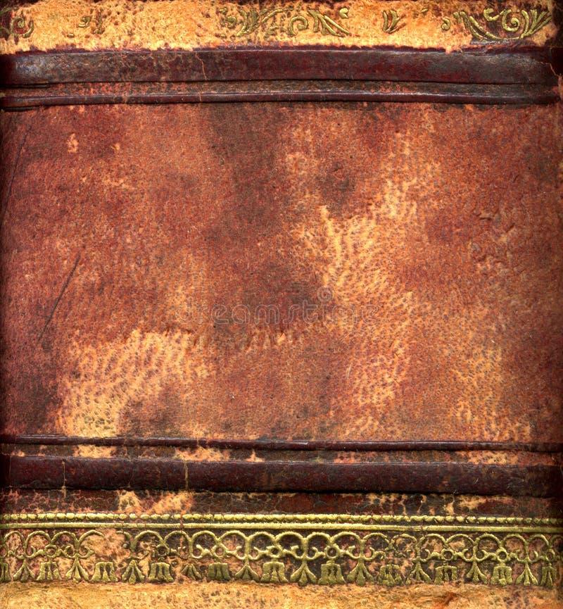 Rivesta di pelle il particolare del libro rilegato fotografie stock libere da diritti