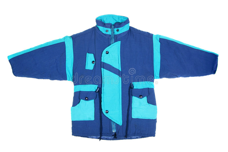 Rivestimento blu di inverno immagine stock