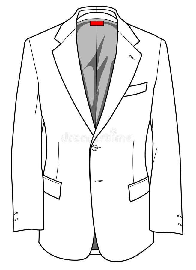 Rivestimento convenzionale delle zolle di modo per l'uomo illustrazione di stock