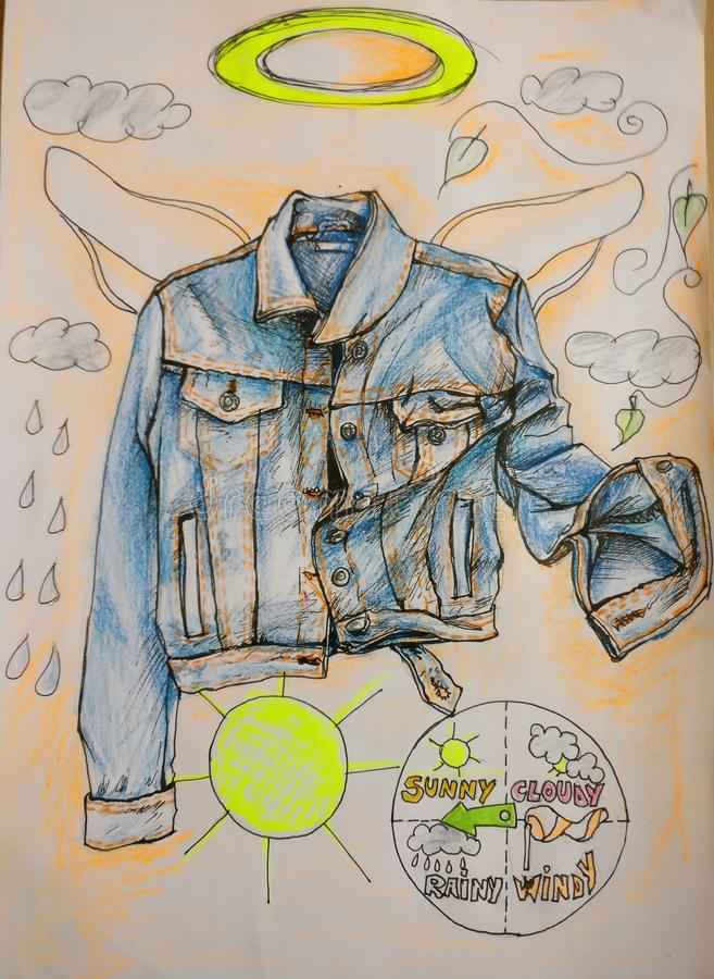 Rivestimento dei jeans illustrazione di stock