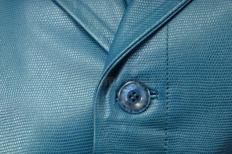 Rivestimento di cuoio blu genuino immagine stock libera da diritti