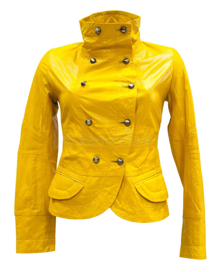 Rivestimento di cuoio giallo fotografia stock